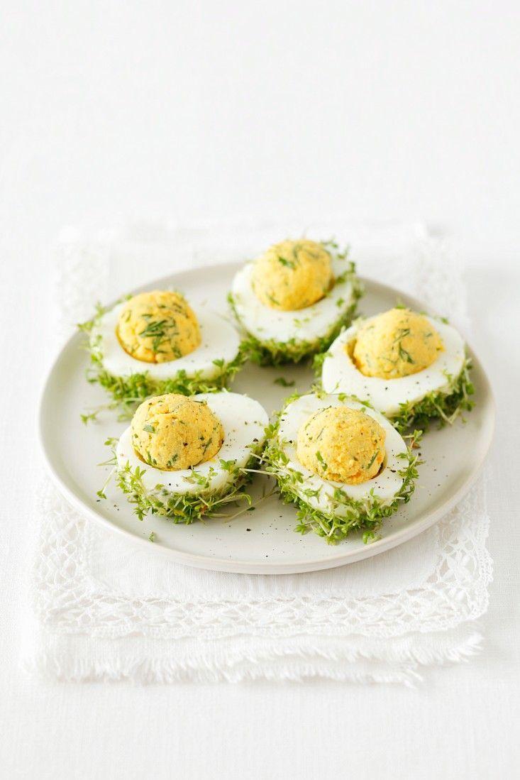 Die besten 17 ideen zu gef llte eier auf pinterest oster - Eier hart kochen zeit ...