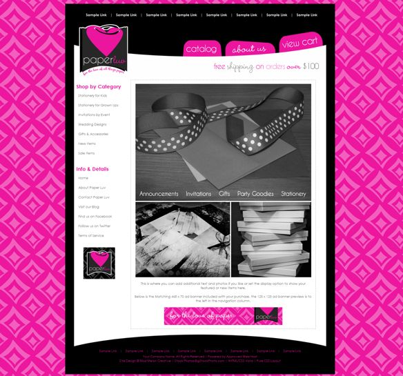 Hot pink background website with hot pink accents. | Hot Pink ...