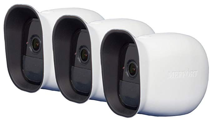 4 Pack White Silicone Camera Protective Skin Case Arlo Wireless Smart Security