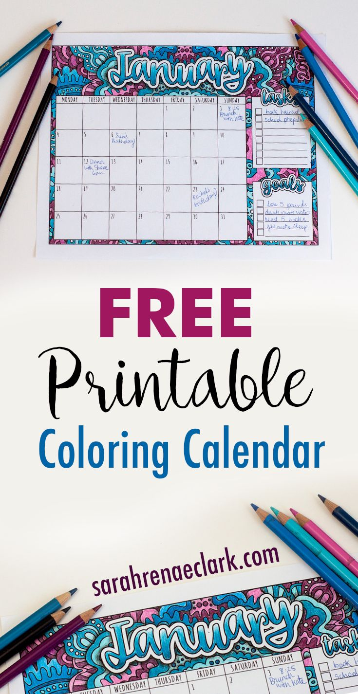 Nico the unicorn coloring pages - Free Printable Calendar Adult Coloring Pagesfree