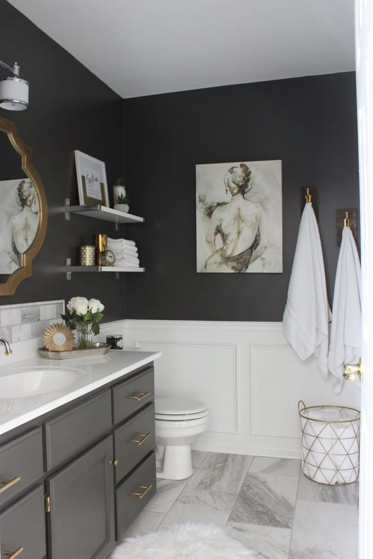 Gray Bathroom Captivating Best 25 Dark Gray Bathroom Ideas On Pinterest  Bathroom . Design Inspiration