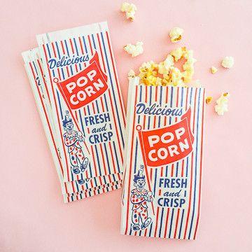 vintage style popcorn bags/ sweet lulu