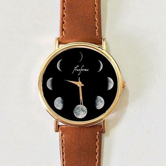 Moon Phase Watch Women watches  Men's watch Vintage by FreeForme