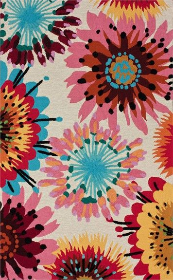 Add some cheerful color and pattern to your little girl's room with the Floral Watercolors Rug.   This fun kids rug will add the perfect amount of whimsy to your modern child's room d?cor!