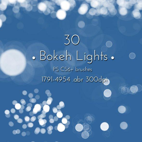 Bokeh Lights Effect Photoshop Brushes Collection by cinema4design, Hi-res Art Brushes for Design.