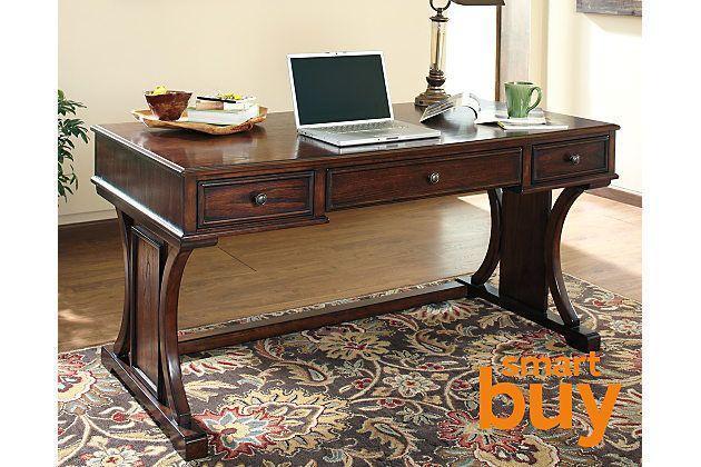 Brown Devrik 60 Quot Home Office Desk By Ashley Homestore