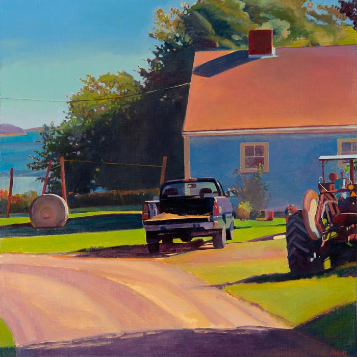 A Painter's Year: Farm by the Inlet