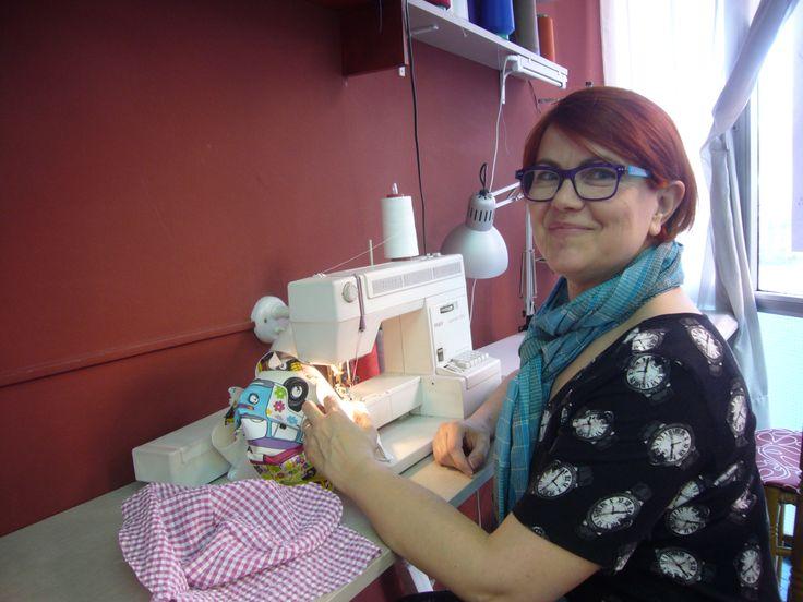 Day 22. Another thursday in sewing class, I wear my skater dress. http://dedalagujaehilo.blogspot.com.es/2014/01/senora-tiene-hora.html