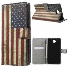 Lumia 650 Yhdysvaltojen lippu puhelinlompakko.