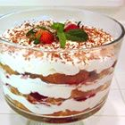 Strawberry Banana Trifle - The recipe that I use, sometime I use pound cake instead of angel food though.. would love this to be there too! :)