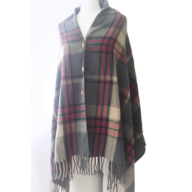 Button Blanket Shawl - Grey Plaid http://julietenglish.com/products/button-blanket-shawl-grey-plaid?utm_campaign=crowdfire&utm_content=crowdfire&utm_medium=social&utm_source=pinterest