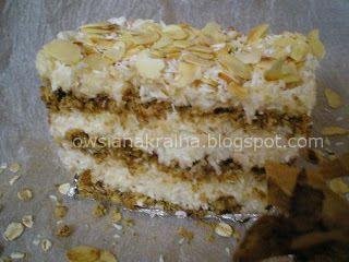 Owsiane ciasto 'Rafaello' (bez pieczenia) - http://www.mytaste.pl/r/owsiane-ciasto-rafaello-bez-pieczenia-4060076.html