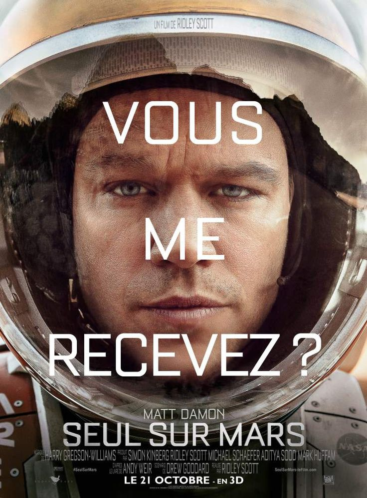 [Nov 15] Lors d'une expédition sur Mars, l'astronaute Mark Watney est laissé pour mort par ses coéquipiers, une tempête les ayant obligés à décoller en urgence. Mais Mark a survécu et il est désormais seul, sans moyen de repartir, sur une planète hostile. Il va devoir faire appel à son intelligence et son ingéniosité pour tenter de survivre et trouver un moyen de contacter la Terre.