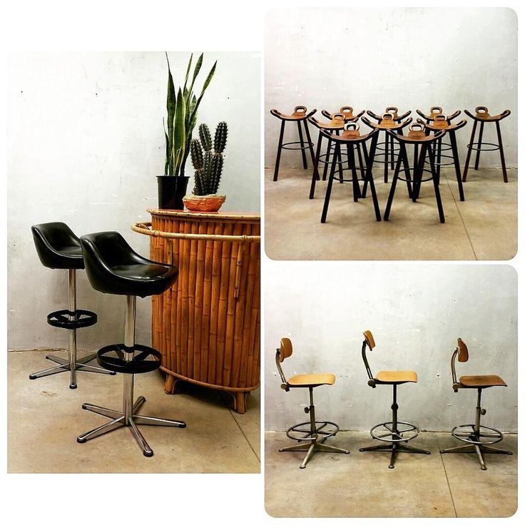 TAKE A SEAT...NEW VINTAGE DESIGN BAR STOOLS JUST ARRIVED www.bestwelhip.nl #Frisokramer #Ahrenddecirkel #Spanishstools #industrialstool