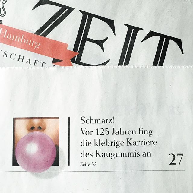 Bubble gum time  take a look at DIE ZEIT and enjoy our new infographic. All you need to know about bubble gum!  #infographic #photography #setdesign #styling #chewinggum #gum #bubblegum #bubble #diezeit #issue #15 #design #creative #pink #blue #information #informationdesign #newspaper #germany @jelkalerche #wrigleys #face #becauseweloveit #moremoremore #yay #hamburg #allezhopp