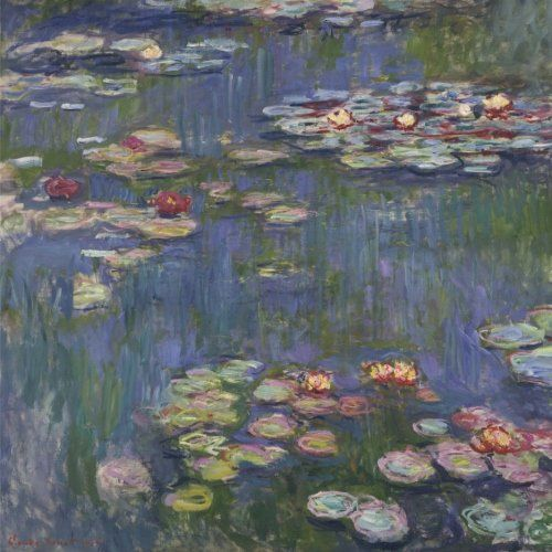 Water Lilies, Claude Monet. Blank journal: 150 blank pages, 8,5 x 8,5 inch (21.59 x 21.59 centimeters) Laminated.  (Paper notebook, composition book) by Studio Beeker http://www.amazon.com/dp/1522916857/ref=cm_sw_r_pi_dp_8hCFwb0WQV8W1