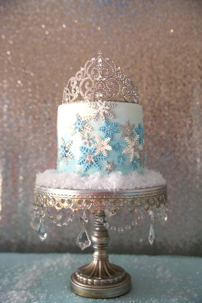Frozen Wonderland Birthday Party via Kara's Party Ideas : The Cake