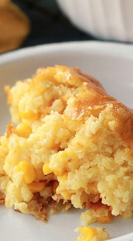 Sweet Corn Spoonbread ~ It's another one of those dump, stir and bake dishes, but it taste like so much more
