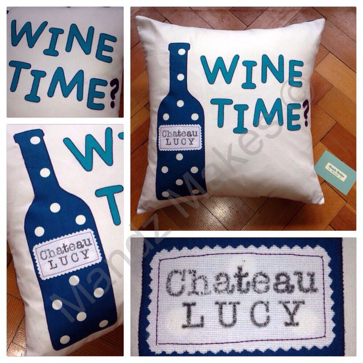 Personalised Wine time? cushion.