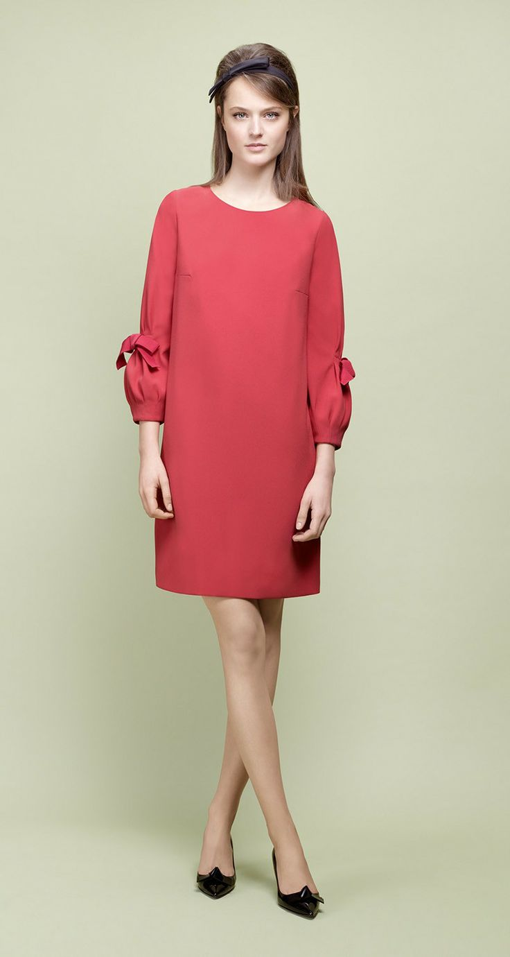 PAULE KA : Crepe back satin dress