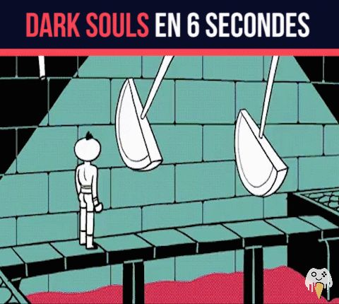 "When you know your having a bad day Please will someone in the comments below tell me what's ""dark souls en 6 secondes"" means in English"