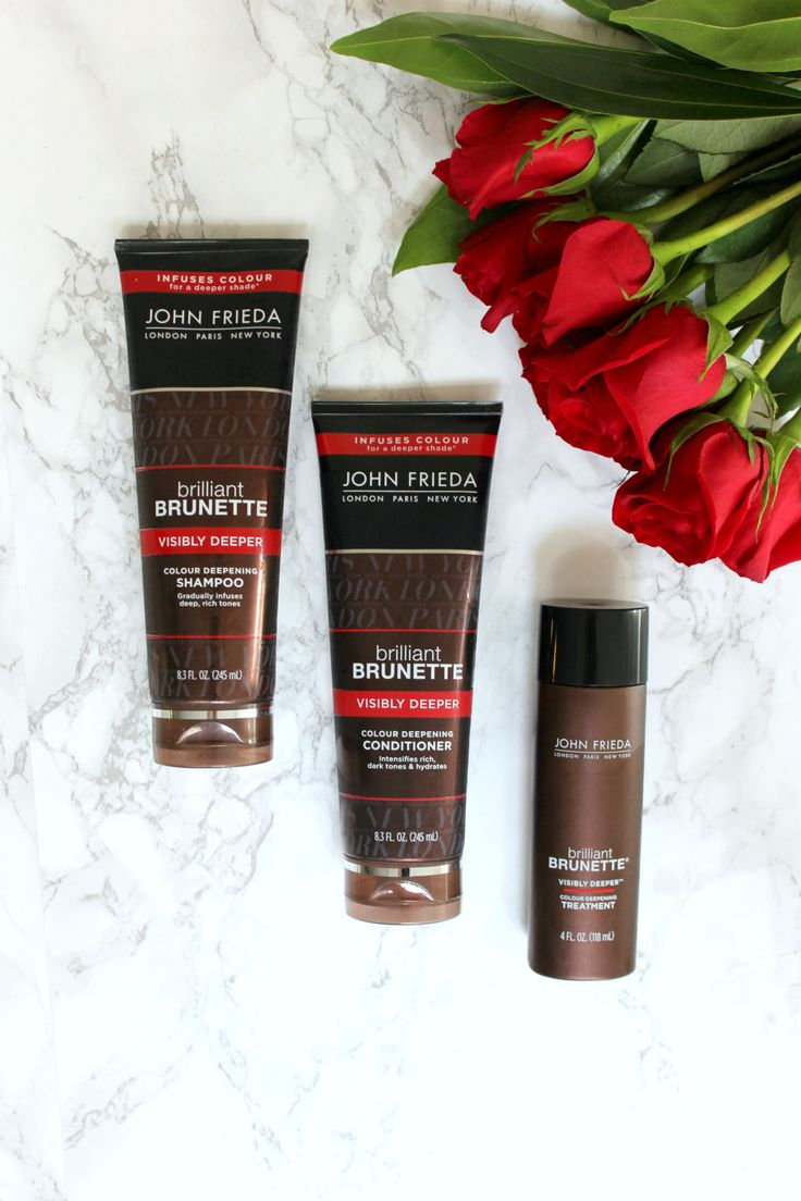 If you're a brunette and you're looking for a viable at home hair color option, try the new John Frieda Brilliant Brunette Visibly Deeper line. It allows you to change your hair color right in the shower and all of the products cost less than $10.