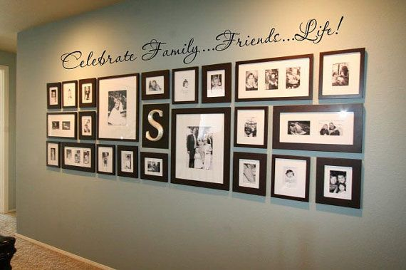 Love this for the hallway: Photo Collage, Idea, Photo Display, Galleries Wall, Photo Wall, Families Photo, Frames Collage, Pictures Frames, Pictures Wall