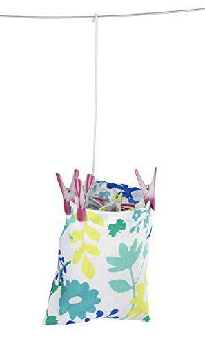 WENKO 3710800100 Wäscheklammer-Beutel - Blumenmuster, Baumwolle, 20 x 20 x 3.5 cm, Mehrfarbig #WENKO #Wäscheklammer #Beutel #Blumenmuster, #Baumwolle, #Mehrfarbig