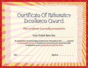 Excellence Award Wording Excel Does Just As Well As Word In