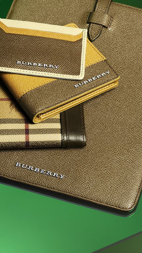 Classic men's wallets and iPad case in a directional new colour palette for S/S13