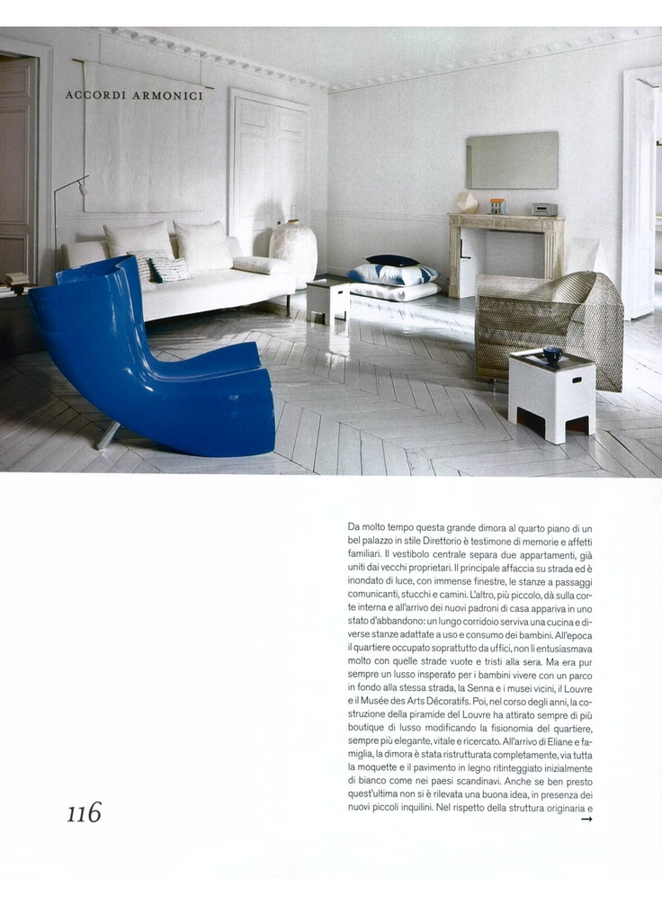 CAPPELLINI - Felt chair in blue by Marc Newson