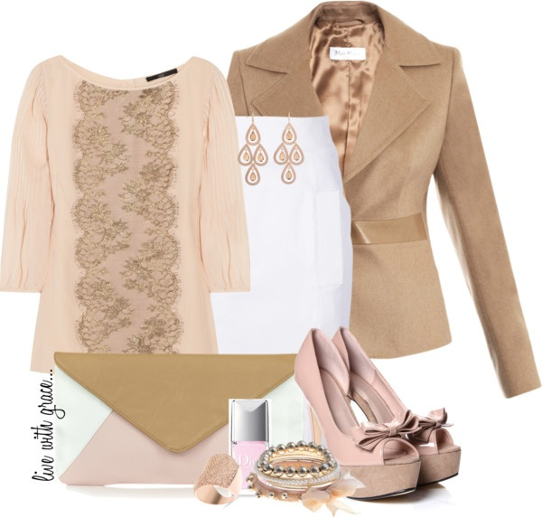 """""""soft colour block"""" by livewithgrace ❤ liked on Polyvore"""