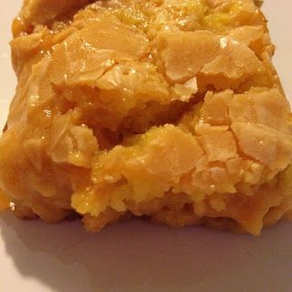 Butterscotch Neiman Marcus Bars - delicious and so easy to make!  Use yellow cake mix and 4 eggs, butter, cream cheese, powdered sugar and butterscotch chips