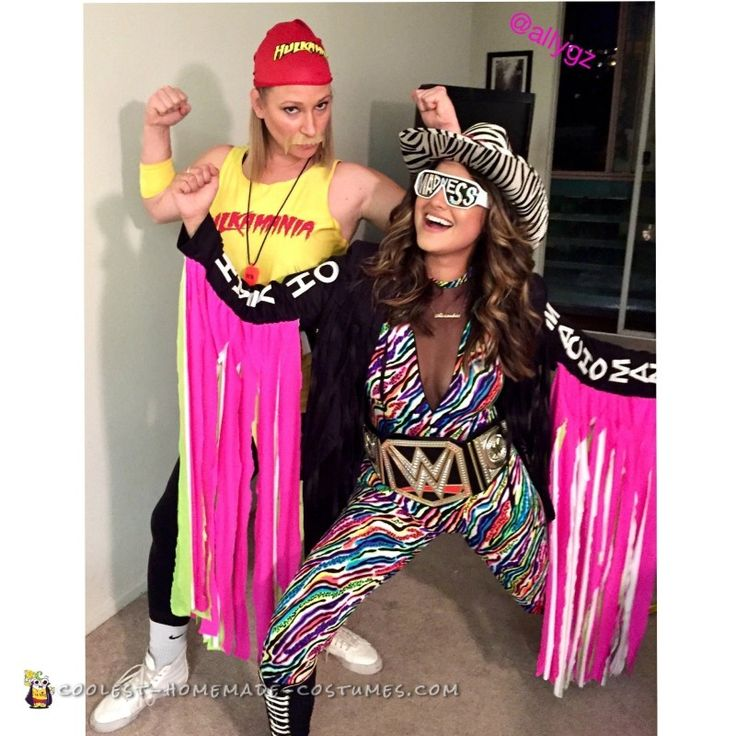 female macho man costume