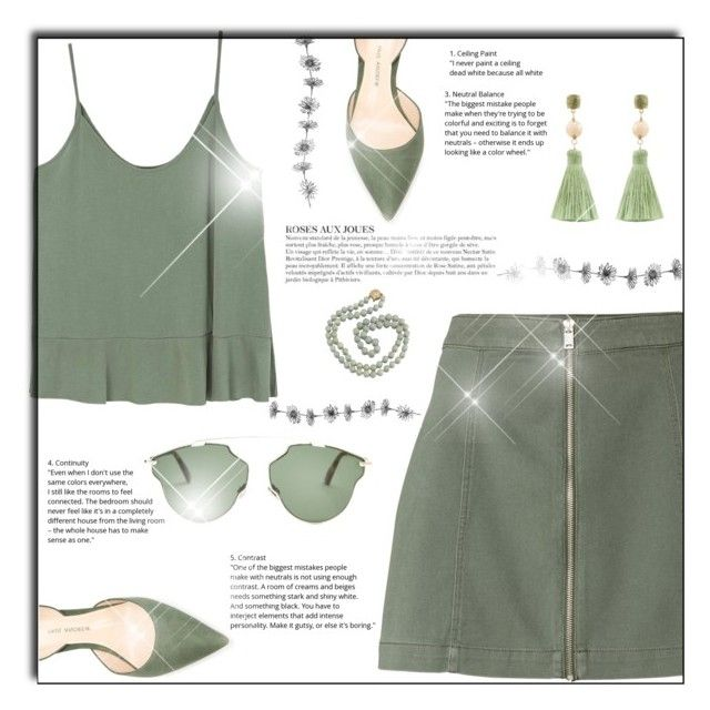 """""""Olive"""" by izabellmaya ❤ liked on Polyvore featuring MANGO, Paul Andrew, Christian Dior, Atelier Mon and KAROLINA"""