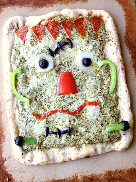 Frankenstein Pizza--could adapt for any special day