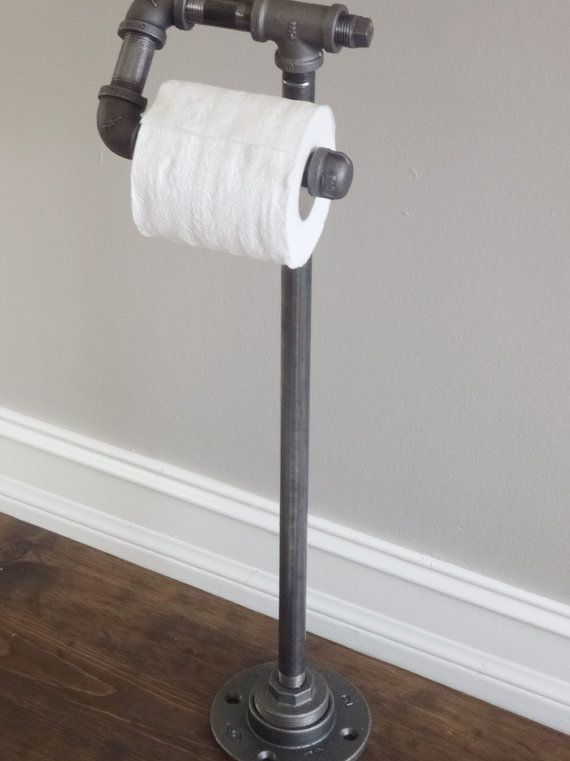 Industrial Pipe standing Paper Holder by IndustrialHomeBazaar, $68.00