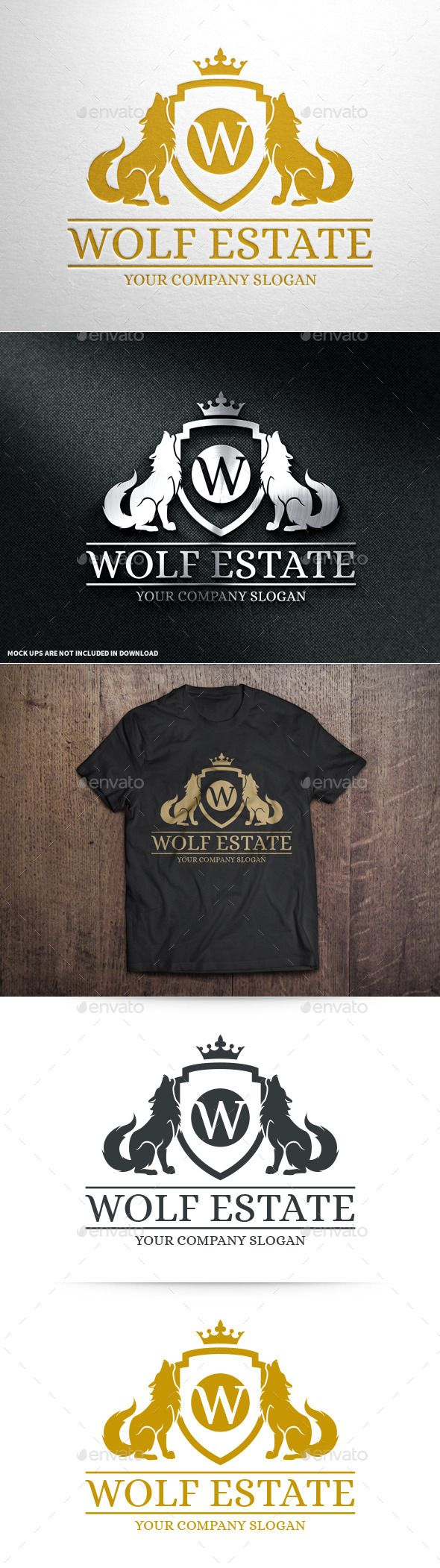 Wolf Estate Logo Template #vector #logo #template #design #logodesign #corporate #identity #brand #branding #company #agency #firm #freelance #hobby #blog #clan #finance #protection #luxury #wolf #crest #shield #crown #letter #detailed #silhouette #coatofarms #gamer #game #resort #hotel #buy #sale #envato #market #graphicriver