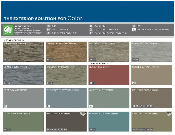 colors of siding for mountain homes | ... kB · jpeg, Mastic vinyl siding color chart1 hazleton pa contractors