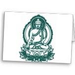 PAZ MEDITATING DE BUDA QUE SE SIENTA FELICITACION