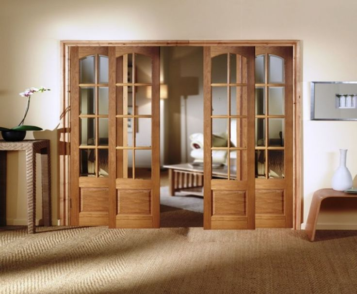 Simple Classy Interior Sliding French Door Design With