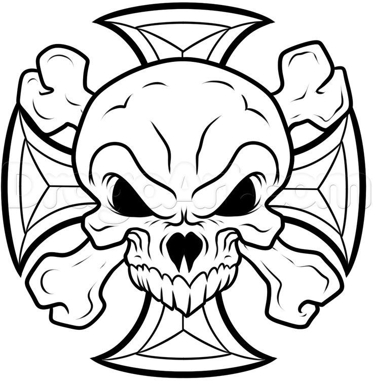 22 best iron cross images on pinterest iron steel and crosses how to draw an iron cross skull step 9 skull tattoo designskull publicscrutiny Gallery