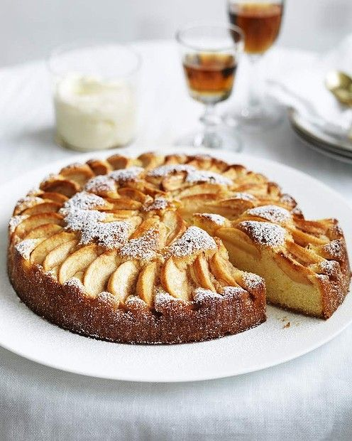 Neil Perry's Italian apple cake with Grand Marnier mascarpone (recipe here).