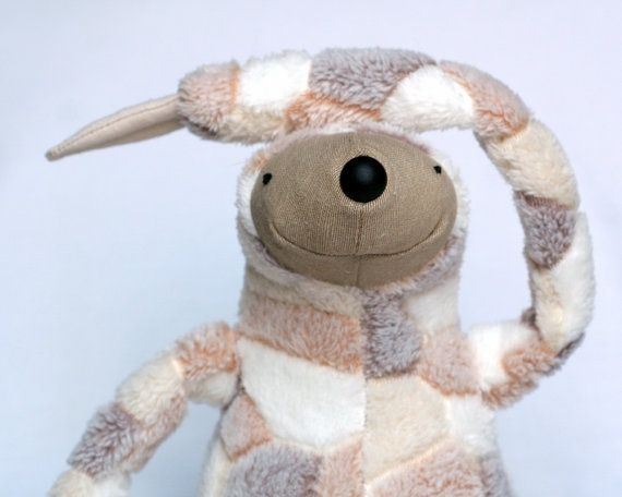Lazy Sloth stuffed animal toy for children by andreavida on Etsy