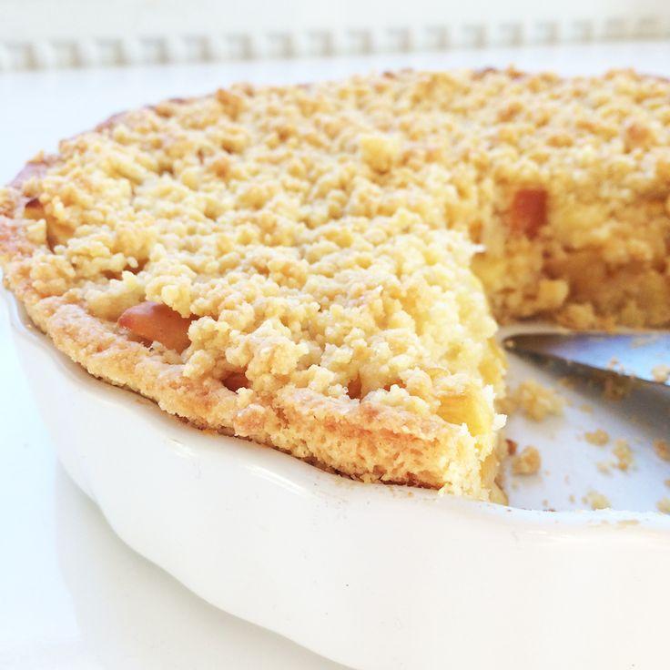 Drobenkový jablkový koláč