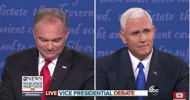 """2016 VP Debate - http://anythingla.com/2016-vp-debate/ - [caption id=""""attachment_8091"""" align=""""aligncenter"""" width=""""650""""] 2016 VP Debate: Sen. Tim Kaine and Gov. Mike Pence (Photo: ABC)[/caption] On October 4th Sen. Tim Kaine and Gov. Mike Pence faced off in a Vice Presidential Debate at the Longwood University in Farmville, VA. Each was supposed to answer the moderator's (CBS' Elaine Quijano) questions intended to provide viewers with insight into each Vice Presidential C"""
