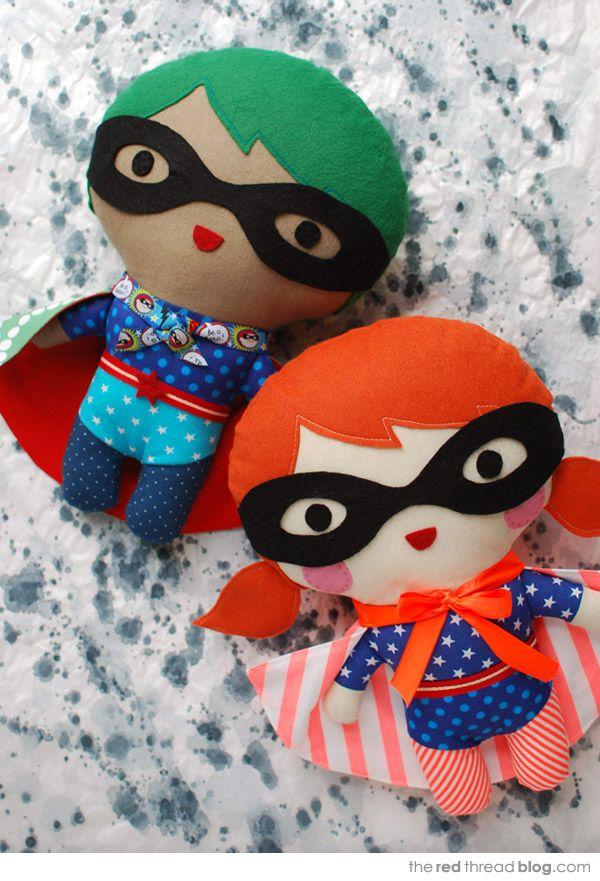 the red thread :: create, inspire, share | TUTORIAL :: Make your own superhero softie | http://www.theredthreadblog.com