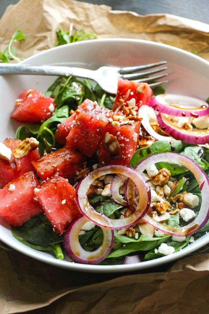 This salad is jam packed with everything cheesy, salty, juicy sweet and more – sweet watermelon, creamy/salty feta, pungent onion slices, crunchy almonds, and tangy dressing. It's SO good! Nothing screams summer like a big bowl of ice-cold watermelon… especially when it's cut perfectly. But how about a chunky watermelon salad?! In the past, watermelon chunks have …