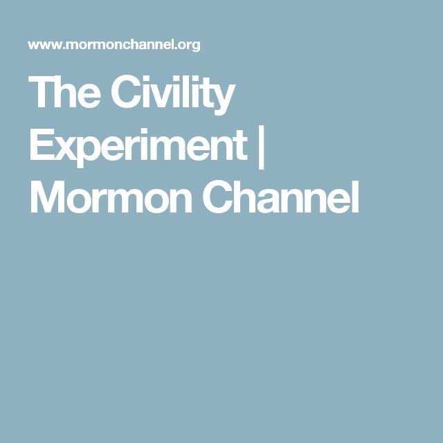 The Civility Experiment | Mormon Channel