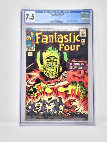 #certified #graded #cgc #cpgx #art #DC #Marvel #comic FANTASTIC FOUR #49 CGC 7.5 - SILVER SURFER & GALACTUS Marvel 1966